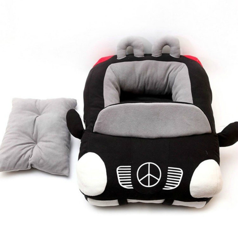 Car Shaped Pet Bed Puppy Dog House Sofa Padded And